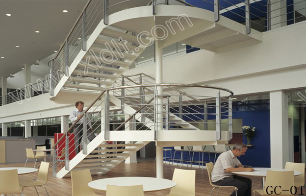 Ford Office, Dagenham, Essex, United Kingdom, Hok International, Ford office break out point and stairs.